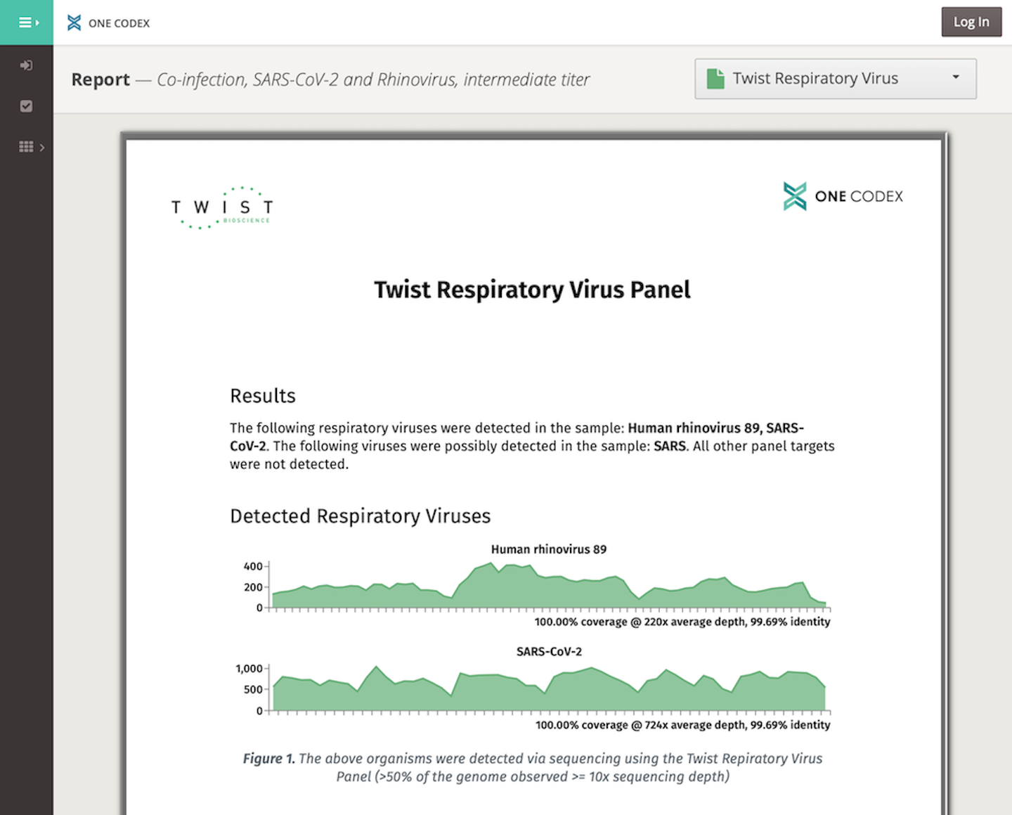 One Codex offers a rapid, easy-to-interpret analysis for the Twist Respiratory Virus Research Panel